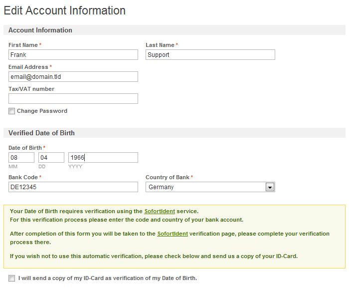 customer information form template .